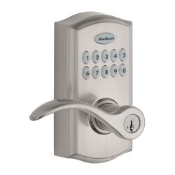 Kwikset  SmartCode 955  Satin Nickel  Metal  Electronic Touch Pad Entry Lever