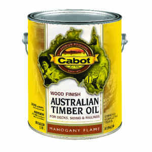 Cabot  Transparent  Mahogany Flame  Oil-Based  Natural Oil/Waterborne Hybrid  Australian Timber Oil