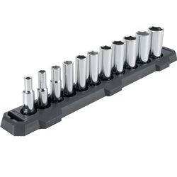 Craftsman 3/8 in. drive SAE 6 Point Deep Socket Set 11 pc.
