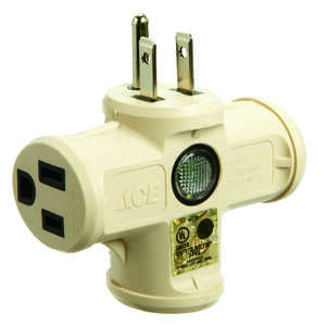 Ace  Grounded  3  Surge Protection 1 pk Triple Outlet Adapter