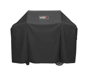 Weber  Black  Grill Cover  58 in. W x 25 in. D x 44.5 in. H For Genesis II and Genesis II LX 300 ser