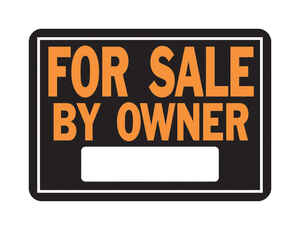 Hy-Ko  English  For Sale by Owner  Sign  Aluminum  14 in. W x 10 in. H