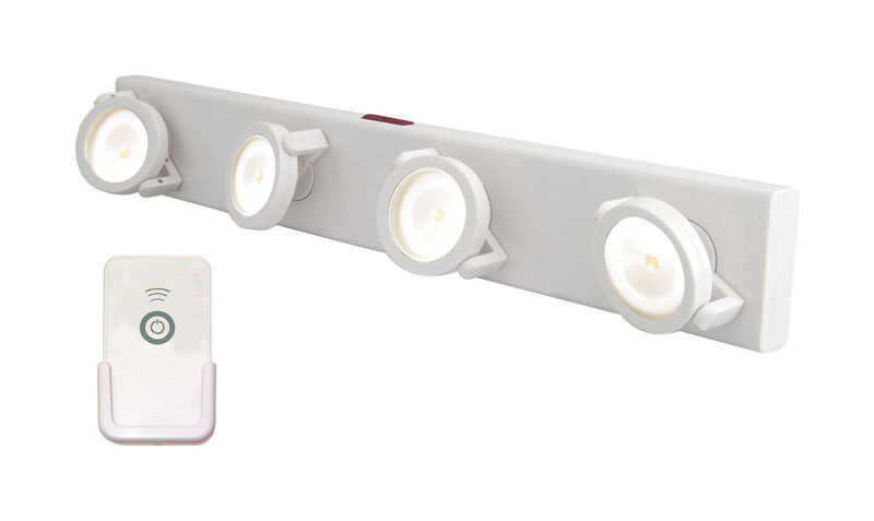 Rite Lite  15.75 in. L White  Battery Powered  LED  Strip Light  70 lumens