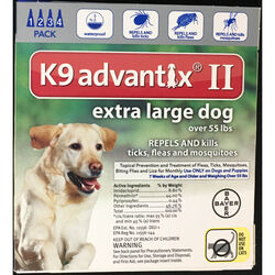 Bayer  K9 Advantix II  Liquid  Dog  Flea Drops  0.54 oz.
