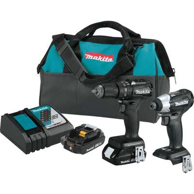 Makita  LXT  18 volt Cordless  Brushless  2 tool Compact Hammer Drill and Impact Driver Kit