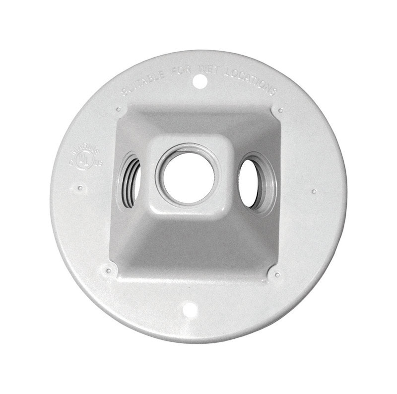 Sigma  Round  Plastic  Lamp Holder  White  4-1/2 in.