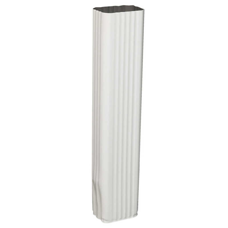 Amerimax  3 in. H x 4.25 in. W x 15 in. L White  Aluminum  Downspout Extension