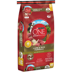 Purina  ONE SMARTBLEND  Lamb and Rice  Dry  Dog  Food  40 lb.