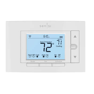 Sensi  Classic  Built In WiFi Heating and Cooling  Touch Screen  Smart Thermostat