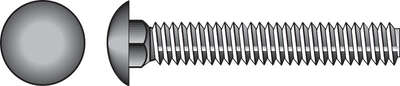 Hillman  5/8 in. Dia. x 8 in. L Hot Dipped Galvanized  Steel  Carriage Bolt  25 pk