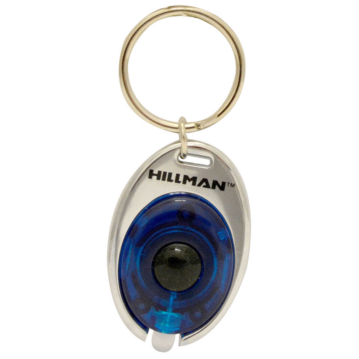 HILLMAN  Metal  Assorted  Decorative Key Ring  LED Light