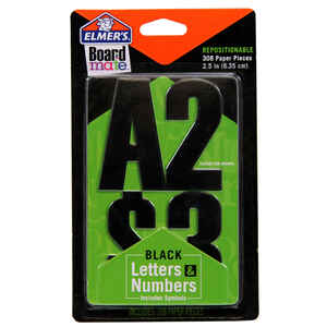 Elmer's  BoardMate  2.5 in. Paper  Numbers  Stencil  308 pc.