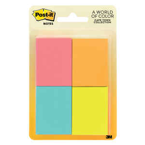 Post-It  1.5 in. W x 2 in. L Assorted  Sticky Notes  4