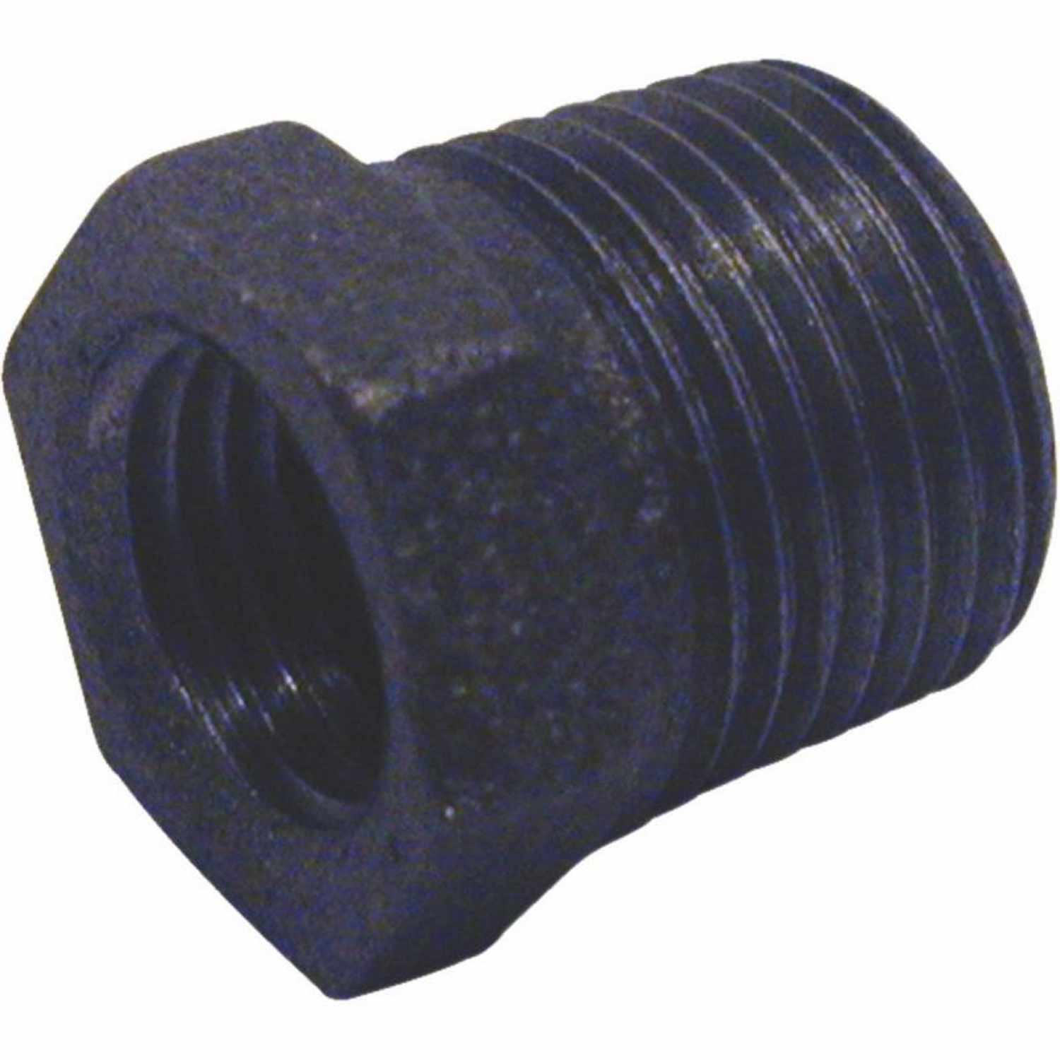B & K  1 in. MPT   x 3/4 in. Dia. FPT  Black  Malleable Iron  Hex Bushing