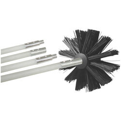 Deflect-O  Jordan  6.75 in. Dia. Black/White  Aluminum  Duct Cleaning Kit