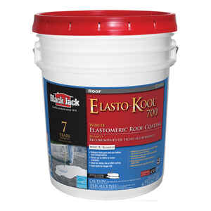 Black Jack  Elasto-Kool 700  Gloss  White  Acrylic  Roof Coating  5 gal.