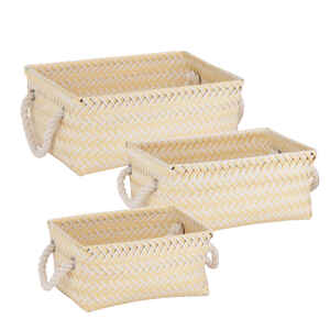 Honey Can Do  6 in. H x 10 in. W x 13 in. D Tote Bin  3 pk