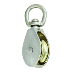 Campbell Chain 1-1/2 in. Dia. Nickel Copper Swivel Eye Swivel Single Eye Pulley