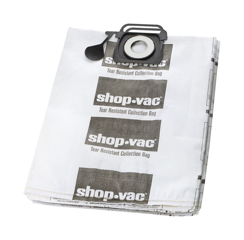 Shop-Vac  12.5  L x 0.5 in. W Dry Vac Bag  12-20 gal. White  2 pk
