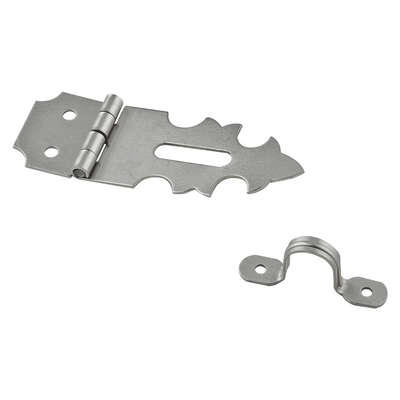 National Hardware  Satin Nickel  Steel  1-7/8 in. L Decorative Hasp  1