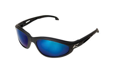 Edge Eyewear  Dakura  Polarized Safety Glasses  Blue Lens Black Frame 1 pk