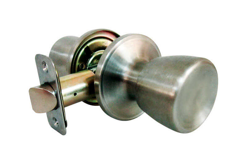 Faultless  Tulip  Satin Stainless Steel  Metal  Passage Door Knob  3 Grade Right Handed