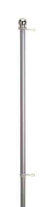 Valley Forge  72 in. L Aluminum  Flag Pole  Brushed