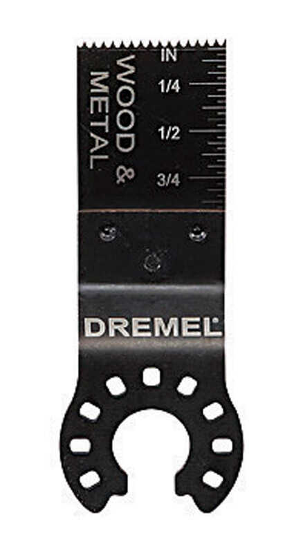 Dremel  Multi-Max  3/4 in   x 2.5 in. L Steel  Wood and Metal Flush Cut Blade  1 pk