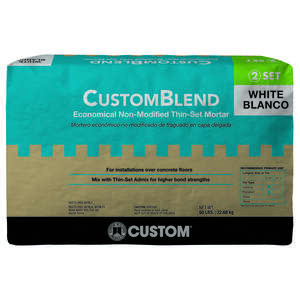 Custom Building Products  CustomBlend  White  Thin-Set Mortar  50 lb.