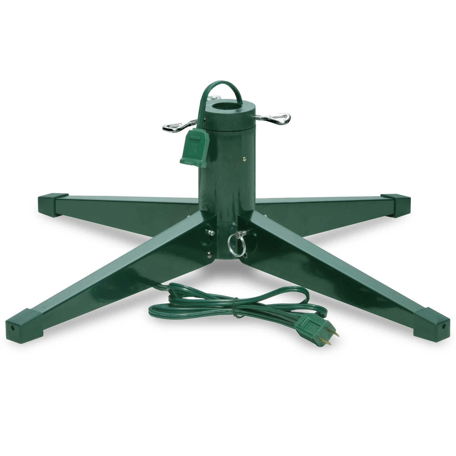 National Tree  Metal  Christmas Tree Stand  Green  8 ft. Maximum Tree Height