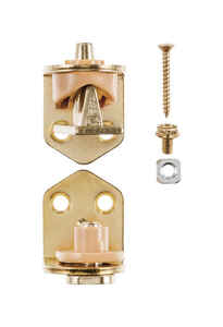 Ace  1-3/4 in. L Bright Brass  Cafe Door Hinge  2 pk