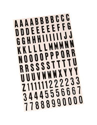 Hy-Ko 1 in. Black Vinyl Self-Adhesive Letter and Number Set 0-9, A-Z 1 pc.