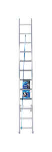 Werner  24 ft. H x 17.33 in. W Aluminum  Extension Ladder  Type I  250 lb.