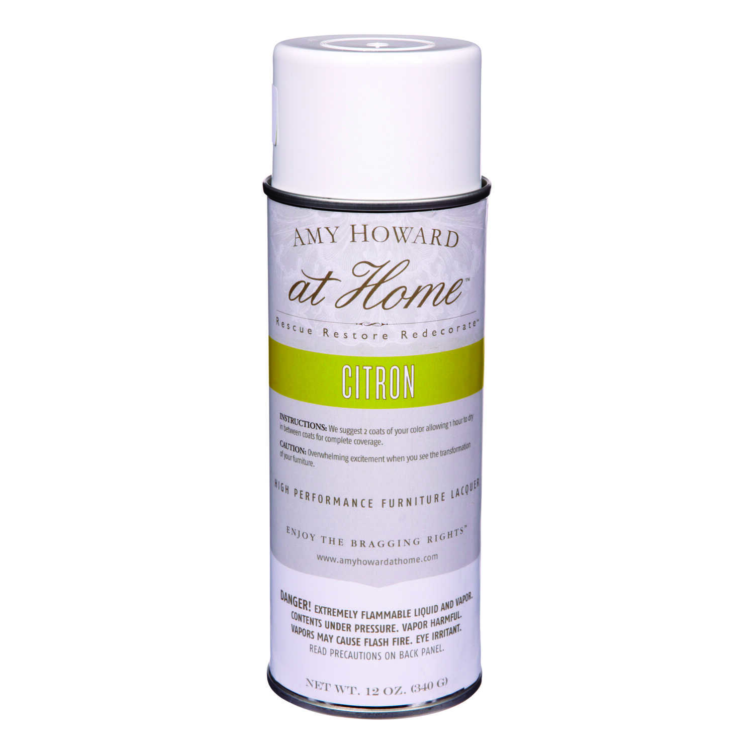 Amy Howard at Home  Gloss  Citron  High Performance Furniture Lacquer Spray  12 oz.