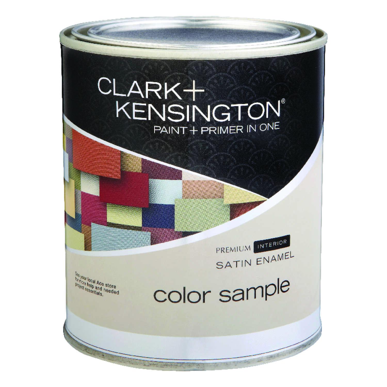 Clark kensington satin ultra white ultra white base acrylic latex paint sample