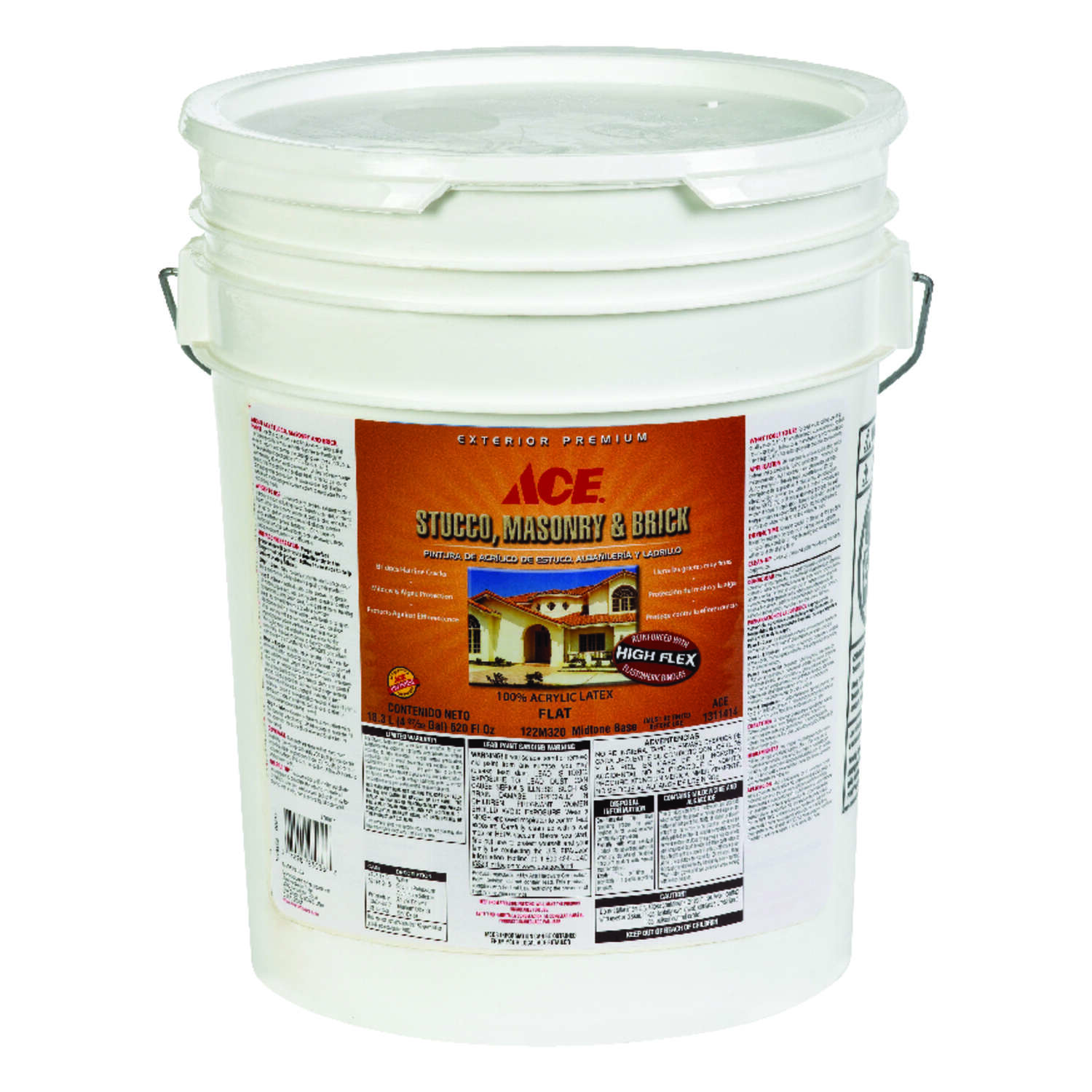 Ace Flat Tintable Base Acrylic Latex Stucco, Masonry And