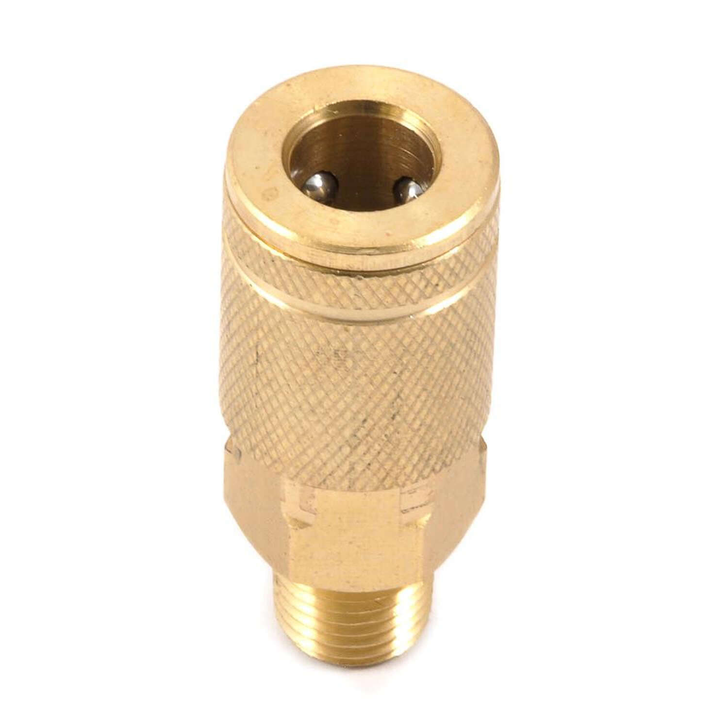 Forney Brass Air Coupler 1/4 in. Male NPT 1/4 in. 1 pc.