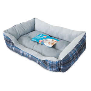 Petmate  Assorted  20 in. L x 15 in. W x 4.5 in. H Rectangle  Pet Bed  Polyester