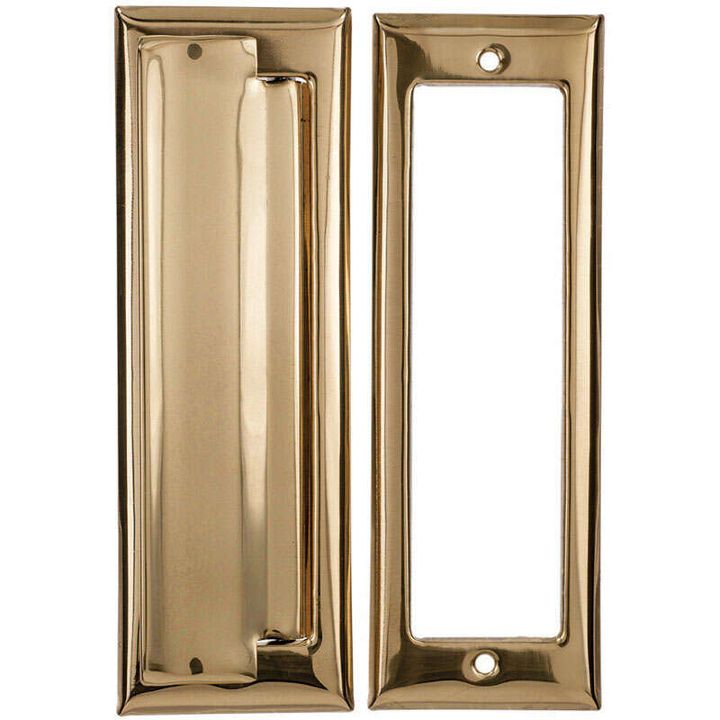 Ace 2.6875 in. W x 7 in. H Bright Brass Mail Slot