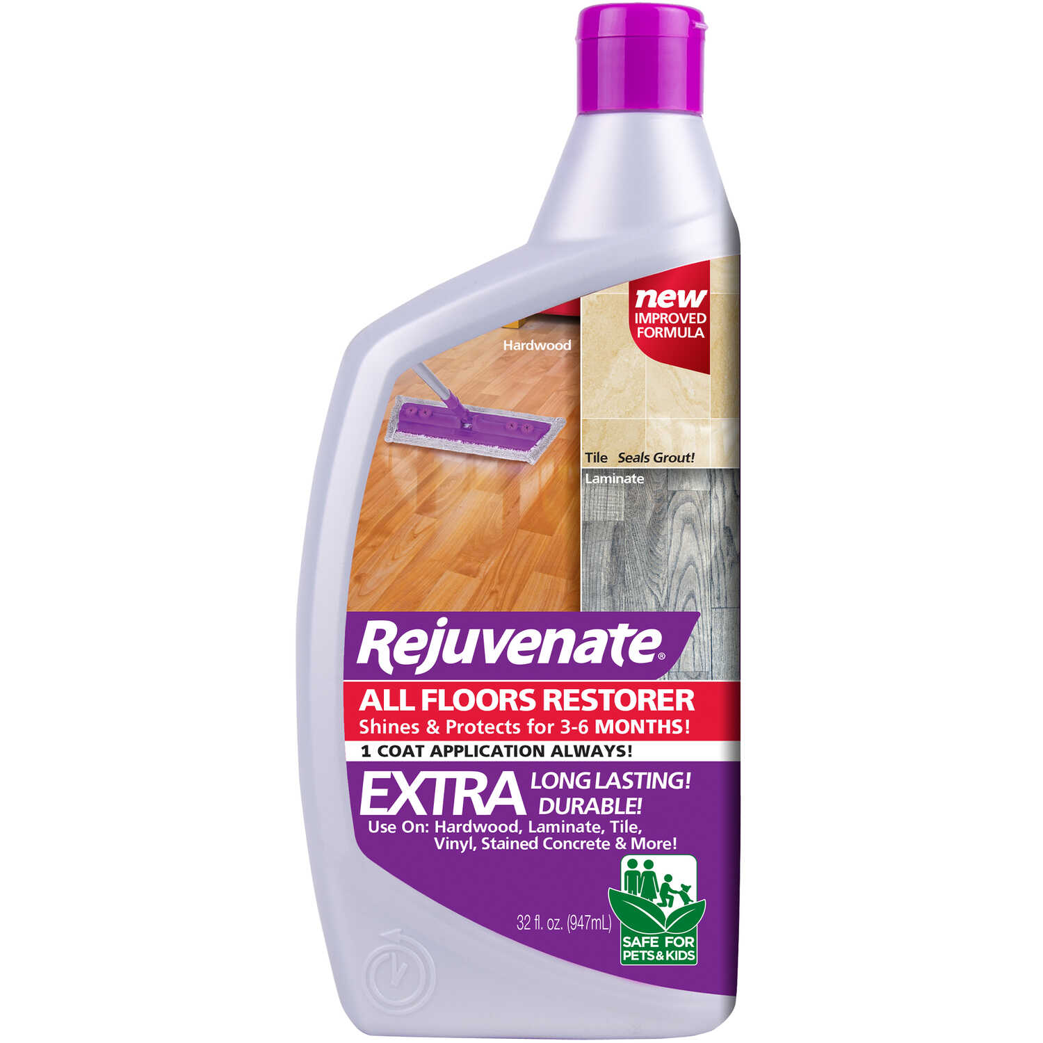 Rejuvenate  High Gloss  All Floors Restorer  Liquid  32 oz.