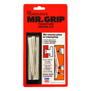 Woodmates  Mr. Grip  4 in. L 8 pk Furniture Repair Kit  Steel
