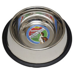 Hilo  Silver  Plain  Stainless Steel  16 oz. Pet Dish  For Dog