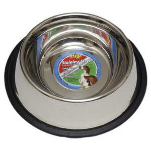 Hilo  Silver  Plain  Stainless Steel  0.5 oz. Pet Dish  For Dog