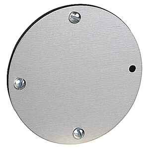Red Dot  Round  Aluminum  1 gang Flat Box Cover  For Use with Weatherproof Single-Gang Boxes