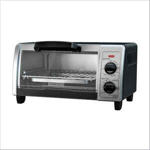 Black and Decker  Chrome  Black/Silver  Convection Toaster Oven  9 in. H x 16.9 in. W x 9.6 in. D