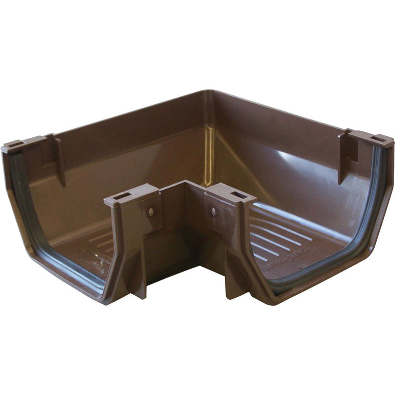 Raingo  5 in. W x 6.8  L x 6.8 in. H Brown  Vinyl  Gutter Corner