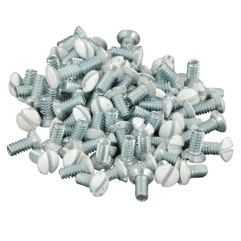 Leviton  White  Metal  Wall Plate Screws  20 pk