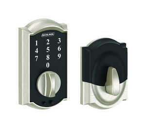 Schlage  Satin Nickel  Touch Screen Deadbolt  Steel