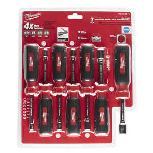 Milwaukee  Assorted in. Metric  Nut Driver Set  7 in. L 7 pc. Hollow Shaft
