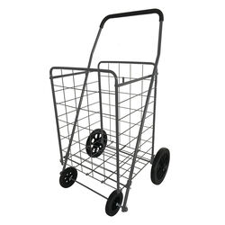 Apex 40.6 in. H x 21.7 in. W x 24.4 in. L Gray Collapsible Shopping Cart